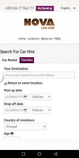 Nova Car Hire - screenshot