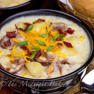 Slow Cooker Potato & Corn Chowder.