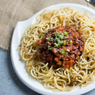 Sweet Potato Noodles with Beef Bolognese