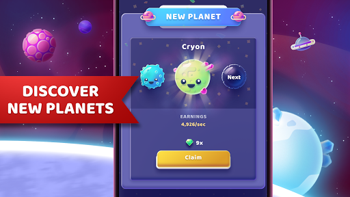 Code Triche Moonies - Merge Planets And Master The Idle Galaxy APK MOD screenshots 3