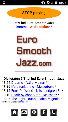android Euro Smooth Jazz Player Screenshot 0