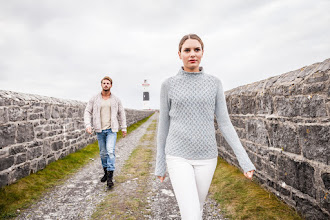 Photo: Aran Trellis Sweater -  This cosy sweater is a stylish alternative to the traditional Aran style whilst still in keeping with the nostalgia of the classic Aran pattern. It features the ancient Trellis stitch which is reminiscent of the unique stone walls of Aran. Its slim fit as well as elaborate and beautiful detailing give it a delicate and feminine look and feel.  www.aransweatermarket.com/aran-trellis-sweater