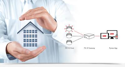 Vernetzbares Funkrauchmelde-System von Pyrexx