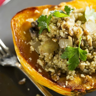 Quinoa and Pumpkin Seed Stuffed Acorn Squash