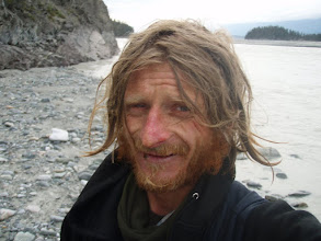 Photo: Tomek after our raft flip over.