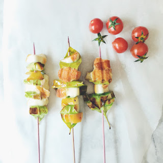Lemon Leaves & Grilled Scamorza Skewers Recipe
