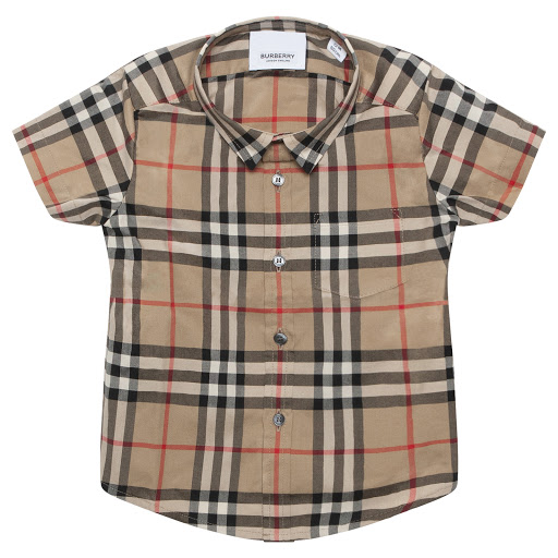 Primary image of Burberry Baby Beige Checked Shirt