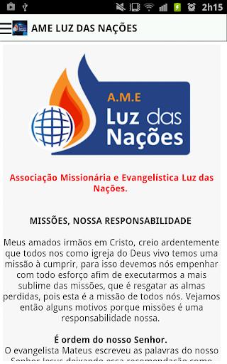7º Congresso A.M.E Luz Nações