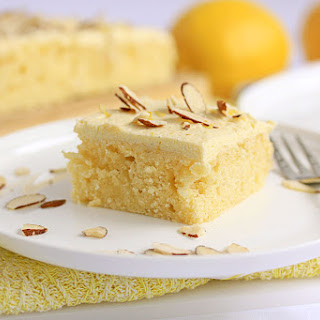 Almond Lemon Poke Cake