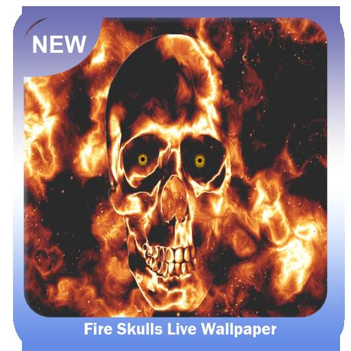 App Insights Fire Skulls Wallpaper Apptopia