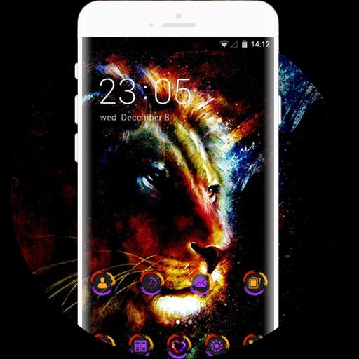 App Insights Neon Lion Live Wallpaper Purple Icon Free
