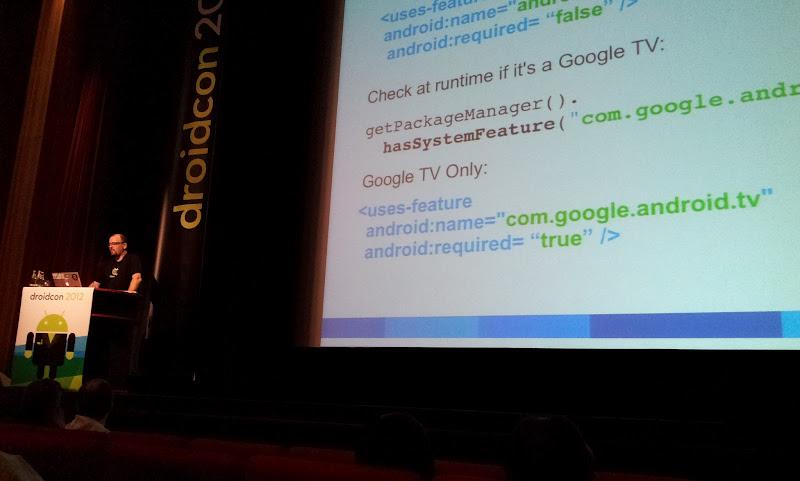 Photo: Keynote from Christian Kurzke (Google) about Google TV Apps