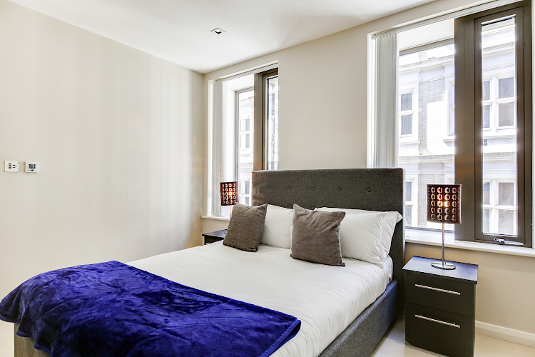 Bedroom at Aston House Serviced Apartments, Farringdon