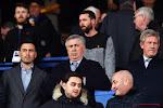 Ancelotti en Arteta (allebei in de tribune) zien flauwe pot voetbal van hun nieuwe clubs
