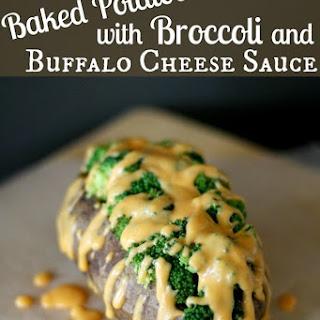 Baked Potatoes with Broccoli & Buffalo Cheese Sauce