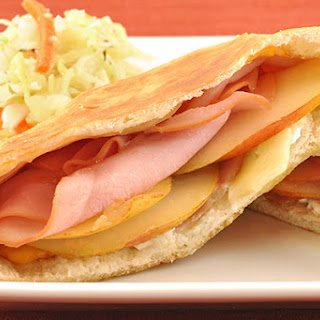 Ham, Blue Cheese and Pear Melts.