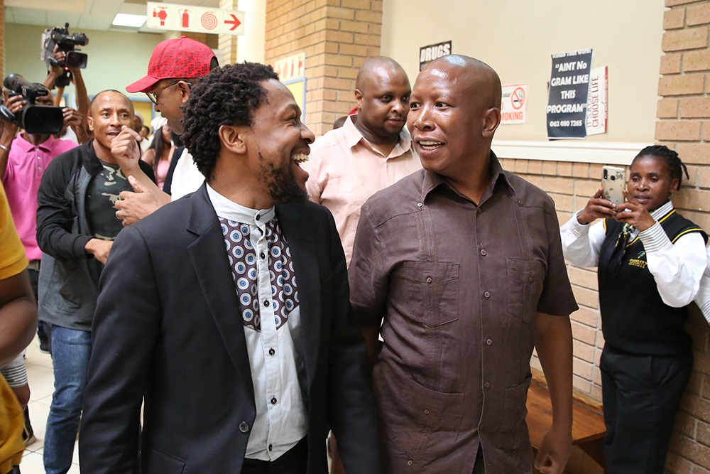 Gloves off as AfriForum says Julius Malema is lying again about assault on cop - SowetanLIVE