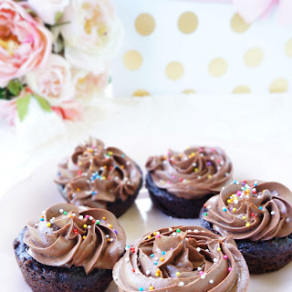 Skinny Chocolate Peanut Butter Cupcakes.