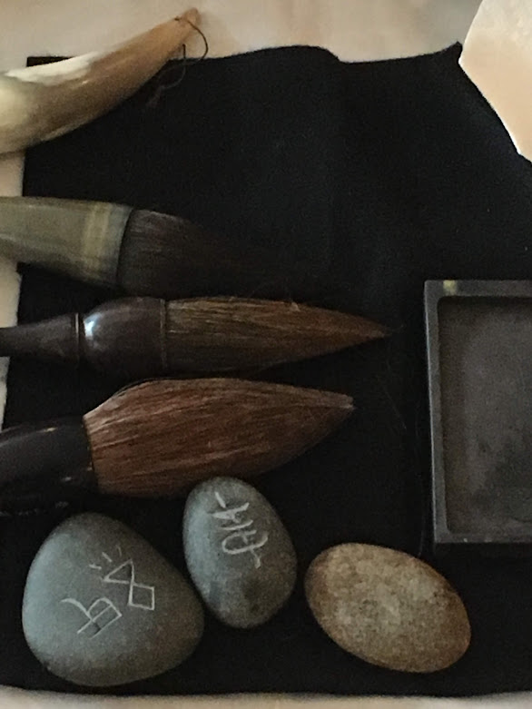 Mindful Play — Ink Stones and Brushes  Photo by Pam Paulsrud