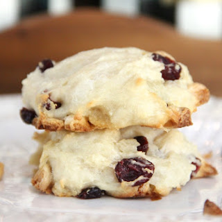 Skinny White Chocolate & Cranberry Cookies for Two!
