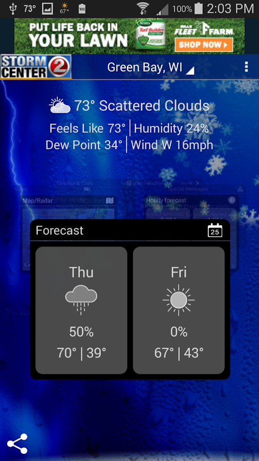 WBAY RADAR - StormCenter 2 - screenshot