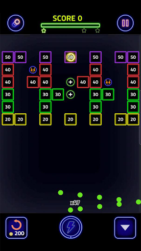 Brick Breaker Glow modavailable screenshots 6