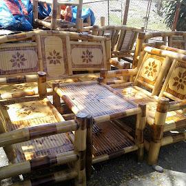 Bamboo Sofa by Florante Lamando - Instagram & Mobile Android ( sofa, bamboo )
