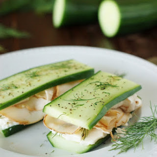 Low-Carb Smoked Turkey and Cucumber 'Sandwiches'