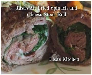 Lisa's Air Fried Spinach And Cheese Steak Roll Recipe
