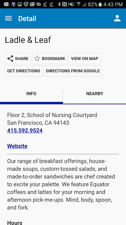 UCSF Mobile- screenshot