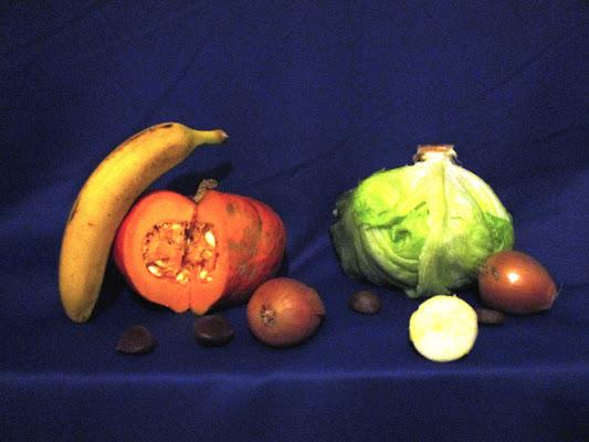 Pranzo vegano autunnale - Ispirata da: http://www.arcadja.com/auctions/it/zanfrognini_carlo/prezzi-opere/412045/ di LunaStorta
