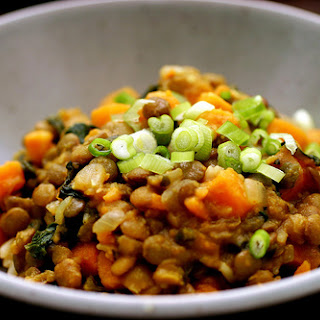 Curried Lentils with Sweet Potatoes and Swiss Chard Recipe
