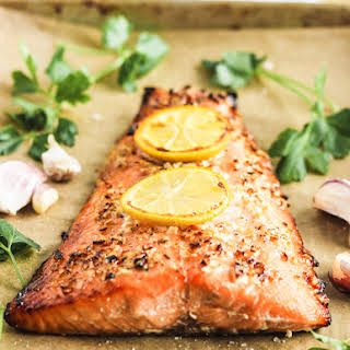 The Easiest Honey Garlic Salmon.