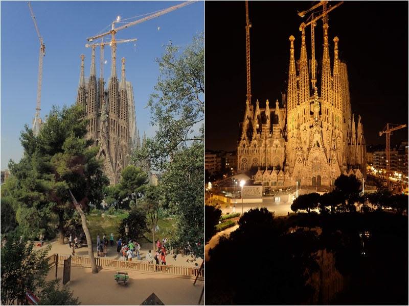 Sagrada Familia from Gaudi's Nest (Barcelona, Spain)