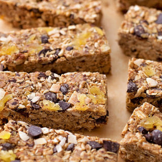 Dark Chocolate Tropical Granola Bars