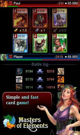 Télécharger Gratuit Masters of Elements-CCG game + online arena & RPG APK MOD (Astuce) screenshots 1