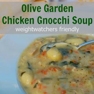 Olive Garden Chicken Gnocchi Soup Made Lighter.