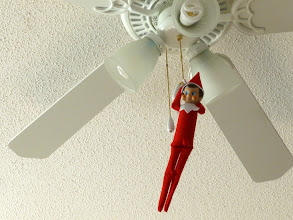 Photo: December 6 - dangling from the ceiling fan