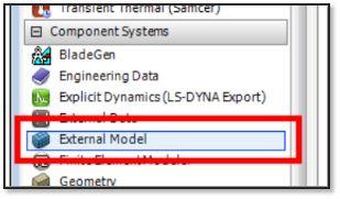 ANSYS - Перетащите компонент External Model в Project Schematic