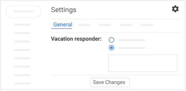 Set a vacation responder