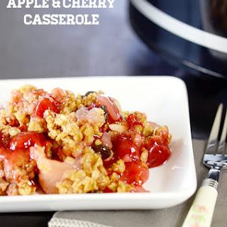 Slow Cooker Apple & Cherry Casserole (4 ingredients).