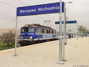 """Photo: EP08-010, TLK """"Podlasiak"""" Warszawa Wschodnia - Szczecin Główny / Zielona Góra {Warszawa Wschodnia; 2015-10-25}"""