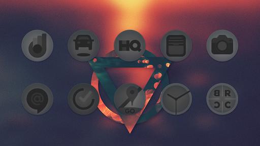matte black icon pack screenshot 3