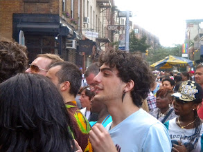 Photo: Gay pride festivities, Bleecker and Grove streets, Greenwich Village, 26 June 2011. (Photograph by Elyaqim Mosheh Adam.)