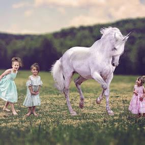 The Art of Childhood by Maria Lucas - Babies & Children Child Portraits ( outdoor, child photography, pink, childhood, field, children, fine art,  )