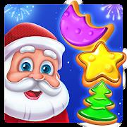 Plätzchen: Weihnachtliches 3-Verbinden-Spiel