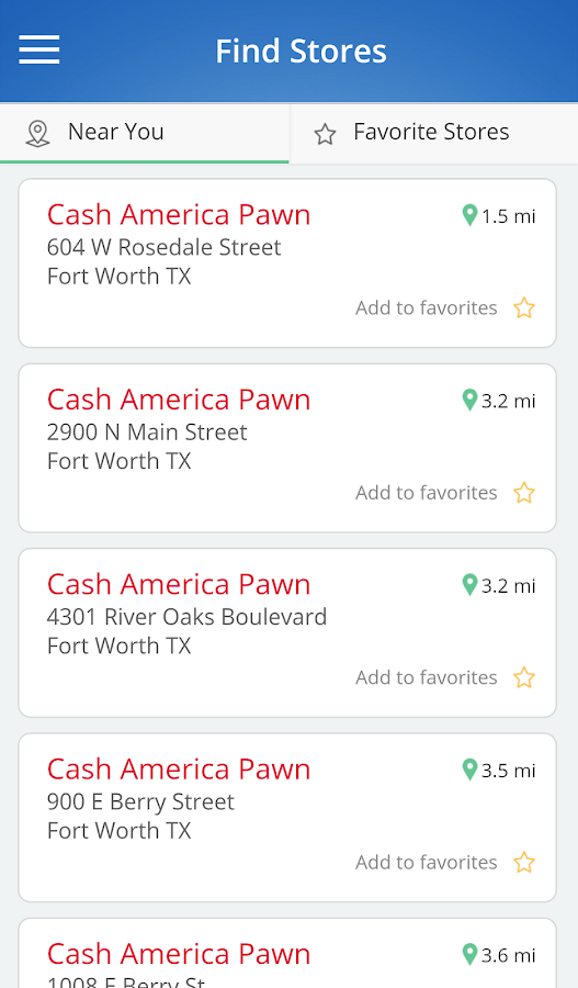Cash America: Search Inventory- screenshot