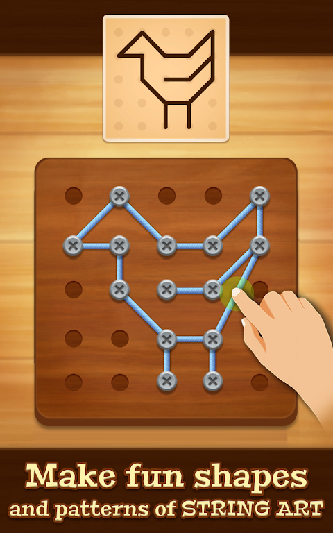 Line Puzzle: String Art poster 1