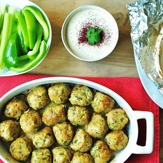 Middle Eastern Meatballs with Tahini Sauce