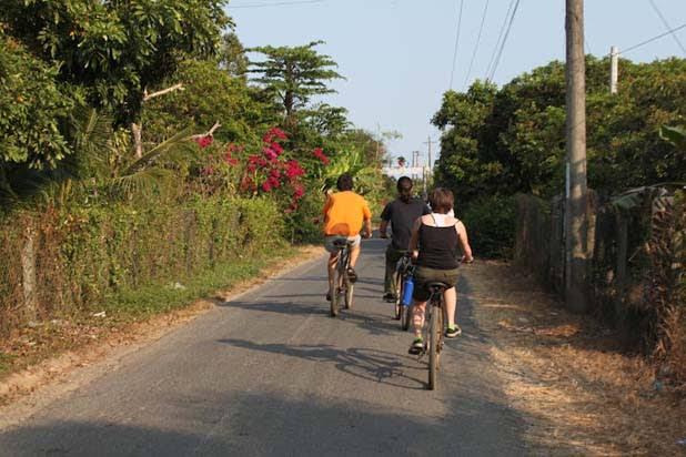 Biking in Mekong Delta
